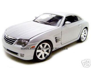 Chrysler Crossfire Silver 1/18 Diecast Model Car by Maisto