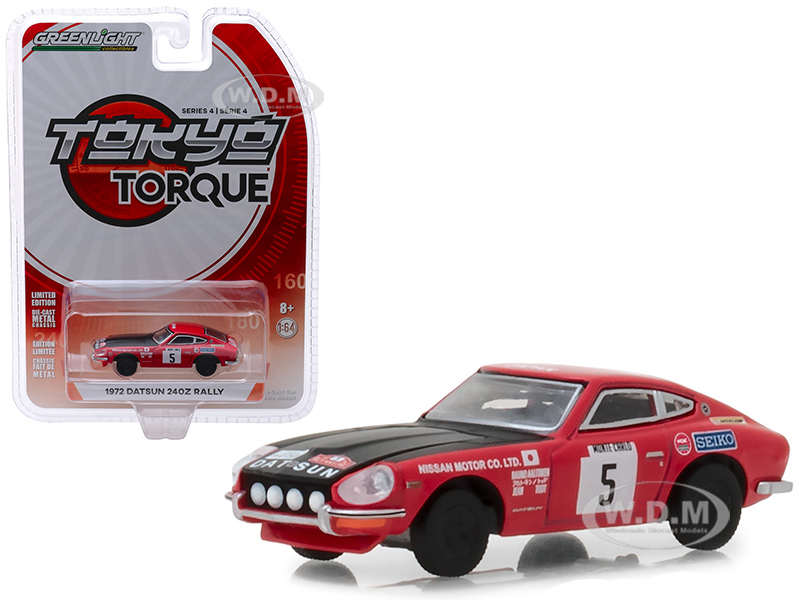 1972_Datsun_240Z_5_Red_with_Black_Hood_Nissan_Motor_Co_Ltd_Monte_Carlo_Rally_Tokyo_Torque_Series_4_164_Diecast_Model_Car_by_Greenlight