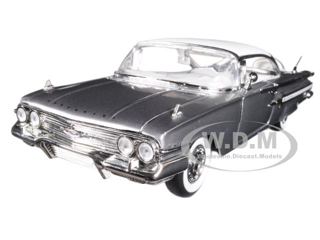 1960_Chevrolet_Impala_Silver_Showroom_Floor_124_Diecast_Model_Car_by_Jada