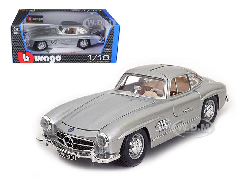1954_Mercedes_300_SL_Gullwing_Silver_118_Diecast_Model_Car_by_Bburago