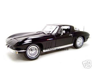 1965 Chevrolet Corvette Black 1/18 Diecast Model Car by Maisto