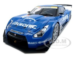 Nissan GT-R Super GT 2008 Calsonic Impul 12 1/18 Diecast Car Model by Autoart