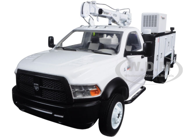 Dodge Ram 5500 with Maintainer Service Body White 1/34 Diecast Model by First Gear