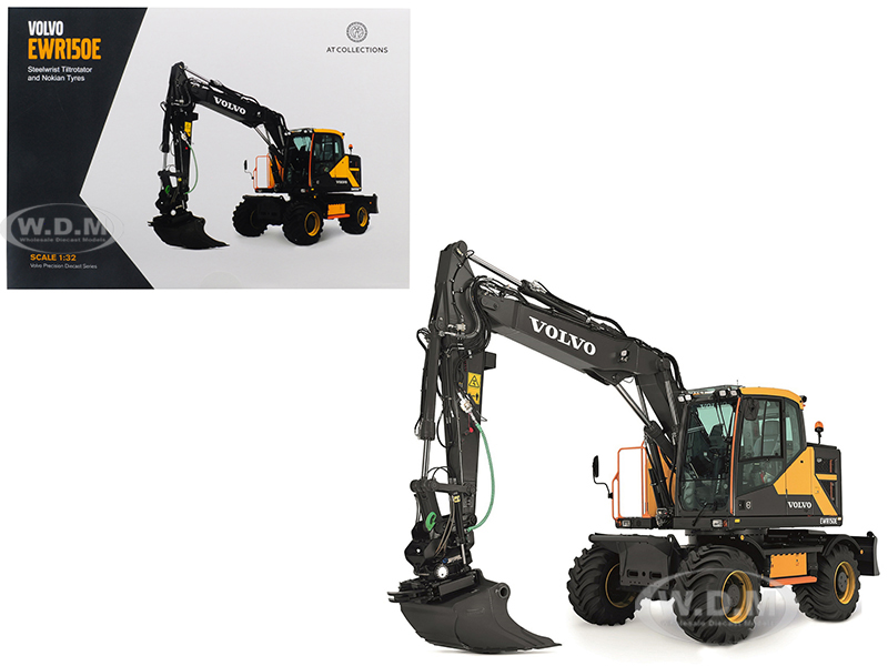 Volvo Ewr150e Excavator With Steelwrist Tiltrotator And Nokian Tires 1/32 Diecast Model By At Collections