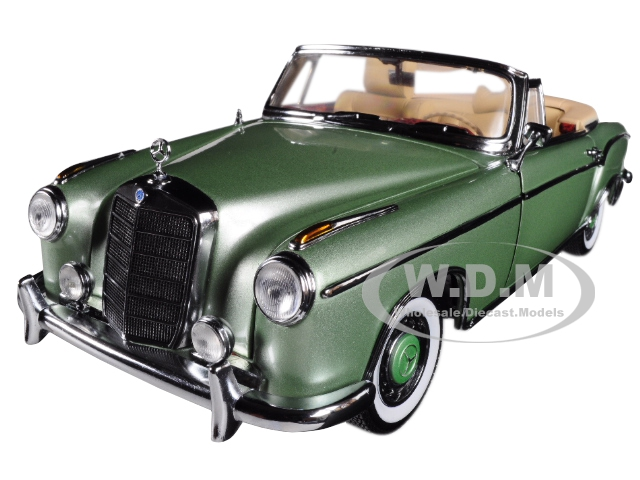1958_Mercedes_Benz_220_SE_Cabriolet_Open_Convertible_Light_Green_118_Diecast_Model_Car_by_Sunstar