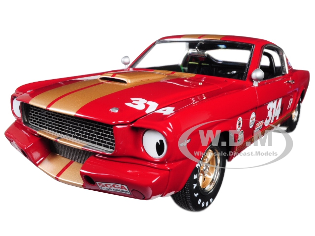 1966_Ford_Shelby_Mustang_GT350H_314_Rent_A_Racer_Red_with_Gold_Stripes_Limited_Edition_to_606_pieces_Worldwide_118_Diecast_Model_Car_by_Acme