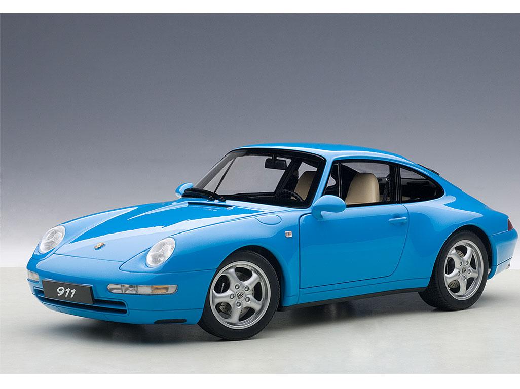 1995-porsche-carrera-911-993-riviera-blue-metallic-118-diecast-model-car-by-autoart