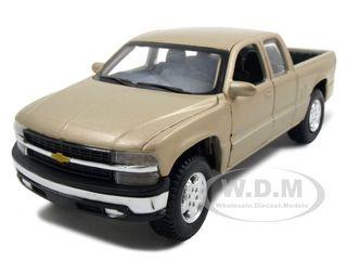 Chevrolet Silverado Pickup Truck Gold 1 27 Diecast Model by Maisto