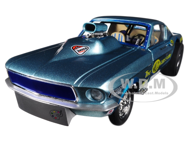 Ohio Georges 1967 Ford Mustang Malco Gasser with Airplow Front Spoiler Limited Edition to 900 pieces Worldwide 1/18 Diecast Model Car by GMP