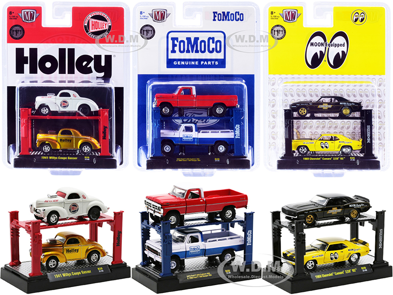 """""""Auto Lifts"""" Set of 6 pieces Series 20 Limited Edition to 5150 pieces Worldwide 1/64 Diecast Model Cars by M2 Machines"""