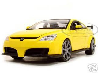 2003 Honda Accord Custom Tuner Yellow 1/18 Diecast Model Car by Motormax