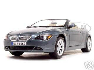 BMW_645_CI_Convertible_Grey_118_Diecast_Model_Car_by_Maisto