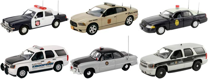 Set of 6 Police Cars Release 5 1/43 Diecast Car Models by First Response
