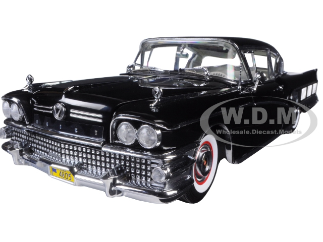 1958 Buick Limited Riviera Coupe Black Charcoal Platimun Series 1|18 Diecast Model Car by Sunstar