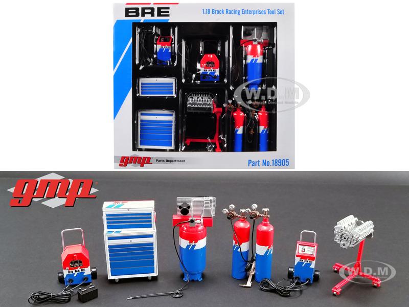 6_piece_Garage_Shop_Tools_Set_1_Brock_Racing_Enterprises_BRE_118_Diecast_Replica_by_GMP