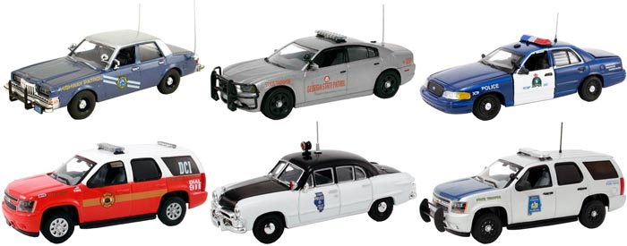 Set of 6 Police Cars Release 3 1/43 Diecast Car Models by First Response