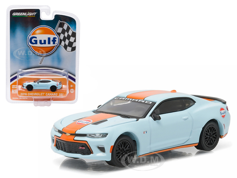 """""""2016 Chevrolet Camaro SS Gulf Oil Hobby Exclusive 1/64 Diecast Model Car by Greenlight Photo - Gifts For Boys"""