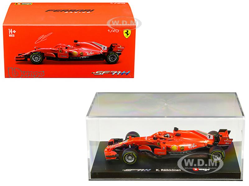 Ferrari Racing Sf71h #7 Kimi Raikkonen 1/43 Diecast Model Car By Bburago