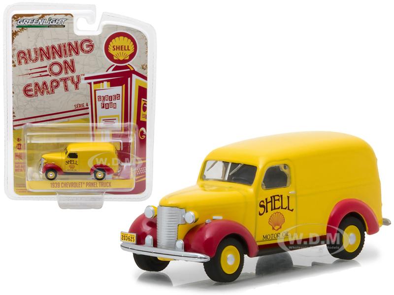 1939 Chevrolet Panel Truck Shell Oil Running on Empty Series 4 1 64 Diecast Model Car by Greenlight