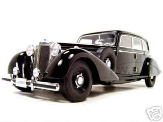 1938 Mercedes 770K Black 1/18 Diecast Model Car by Signature Models