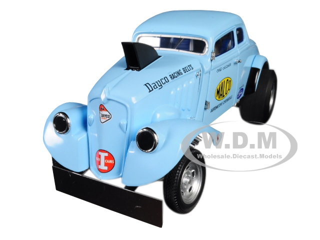 """1933 Malco Gasser With Air Plow Front Spoiler Light Blue (george """"ohio"""" Montgomerys) Limited Edition To 642 Pieces Worldwide 1/18 Diecast Model Car B"""