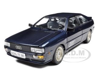 1981 Audi Quattro Blue 1/18 Diecast Car Model by Sunstar
