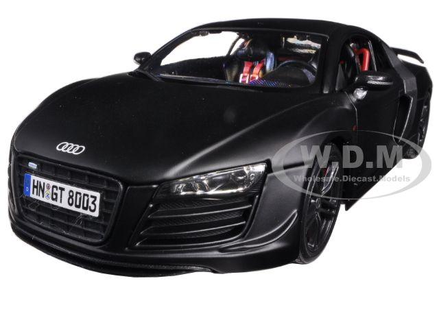 """Audi R8 GT Matt Black 1/18 Diecast Car Model by Maisto Photo - Gifts For Boys"