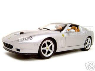 Ferrari Super America Diecast Model Silver 1/18 Diecast Model Car by Hotwheels
