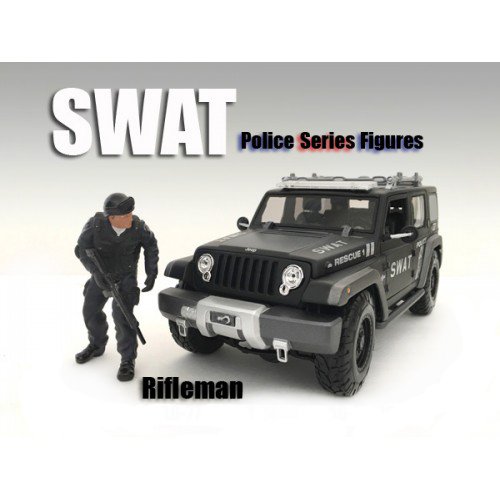 Swat Team Rifleman Figure For 1:18 Scale Models By American Diorama