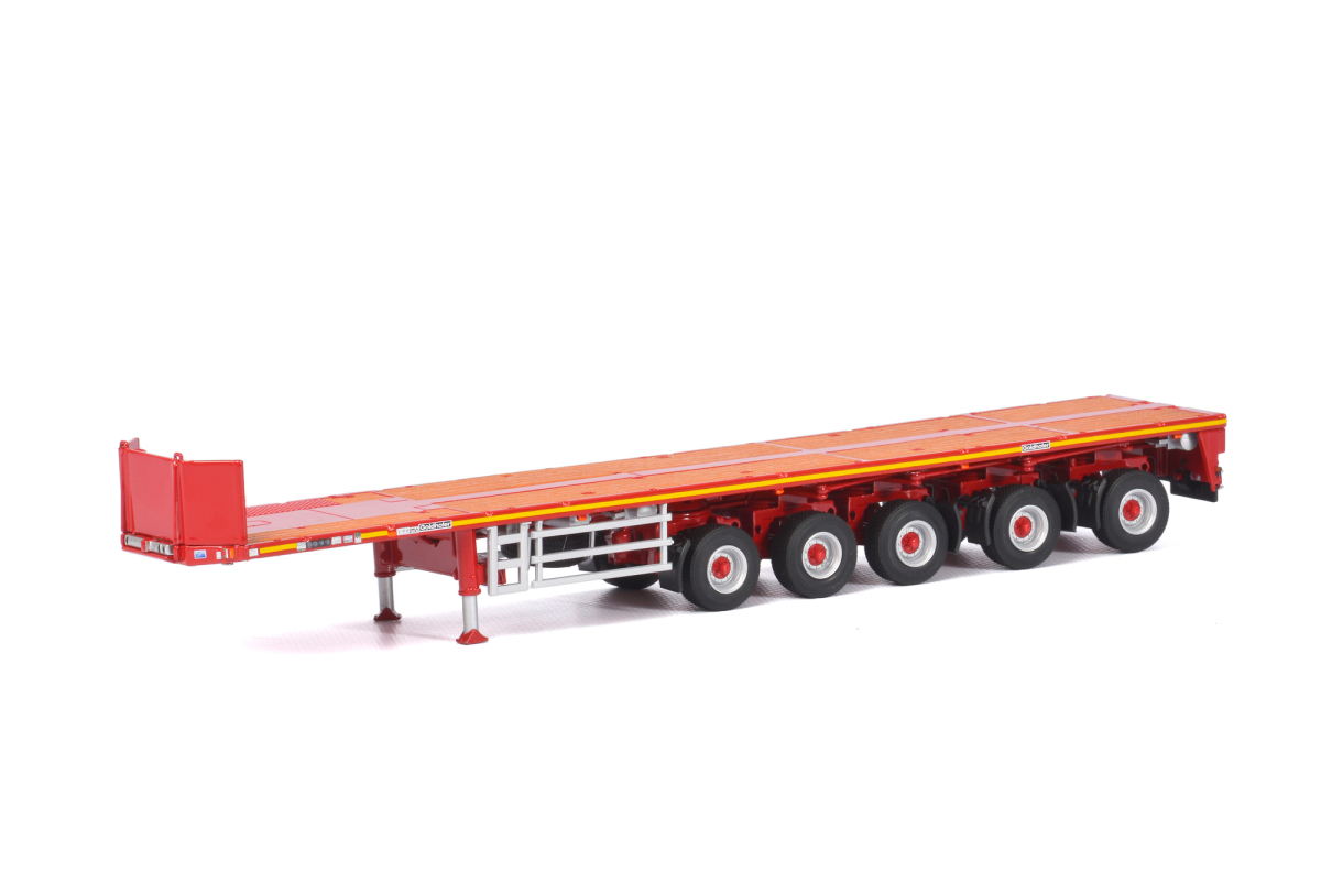 "Brand new 1:50 scalediecast model of""Goldhofer""5 AxleBallast Trailer Red ""WSI Premium Line"" die cast model by WSI Models.Brand newbox.Detailed exterior.Real rubber tires.Made of diecast metal with some plastic parts.Dimensions approximately L-12.25 inches long."