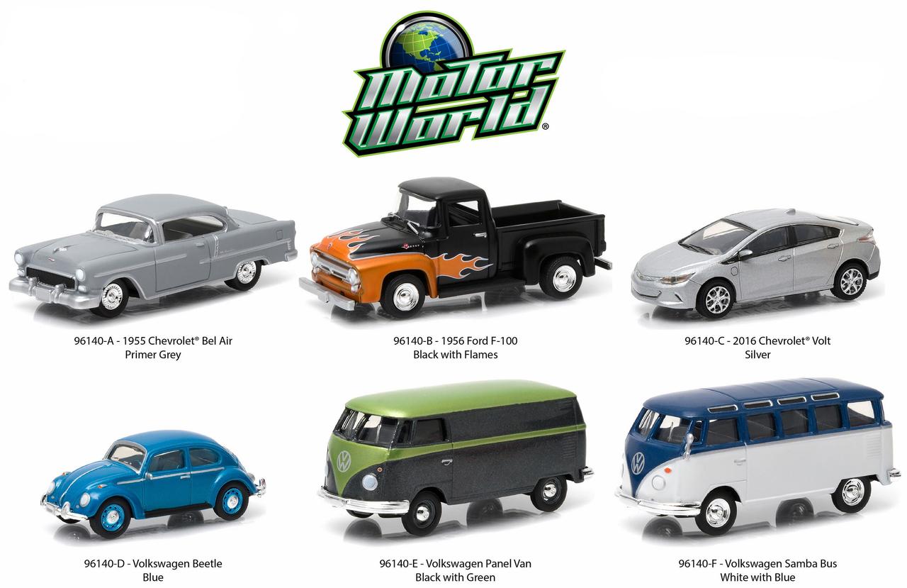 Motor World Series 14 6pc Diecast Car Set 1/64 Diecast Model Cars by Greenlight