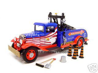 1934_Ford_Tow_Truck_Diecast_Model_Blue_124_Diecast_Car_by_Unique_Replica