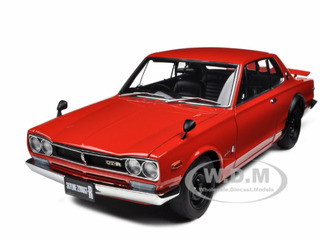 1st Generation Nissan Skyline 2000 GT-R KPGC10 Red 1/18 Diecast Model Car by Autoart