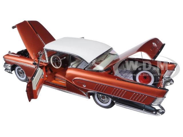 1958-buick-riviera-coupe-garnet-redglacier-white-platimun-edition-118-diecast-model-car-by-sunstar