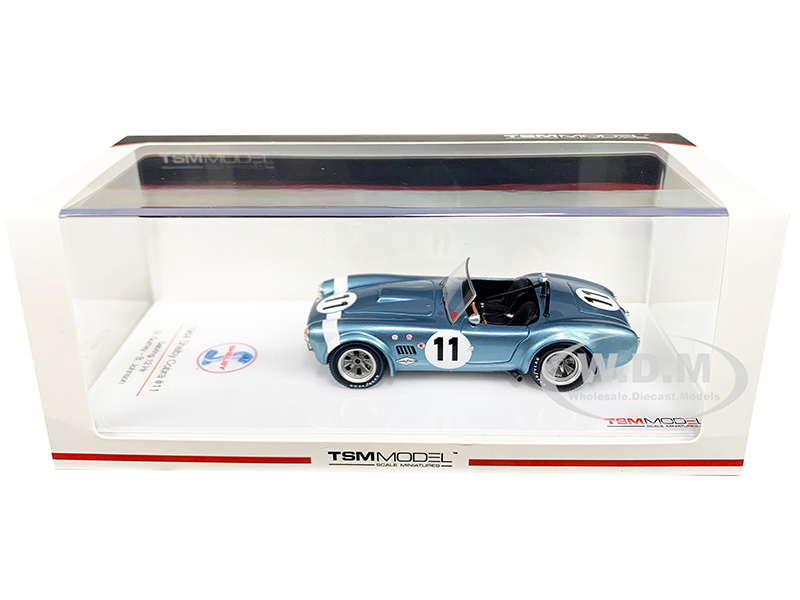 Shelby Cobra 11 D. Gurney B. Johnson Sebring 12H (1964) 1/43 Model Car by True Scale Miniatures