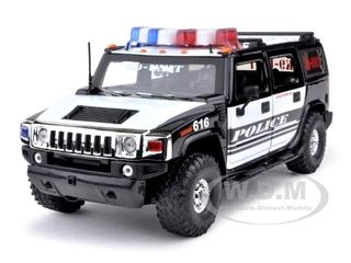 Hummer H2 High Profile Police K-9 Unit 1/24 Diecast Car Model  by Jada