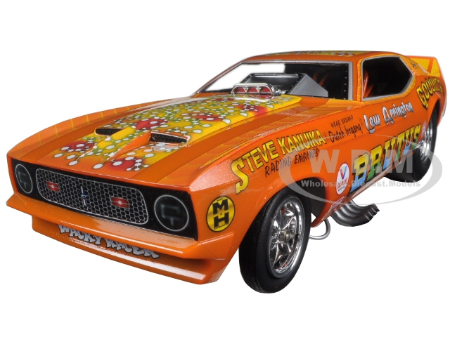 1971 Ford Mustang Nhra Funny Car Limited Edition To 750pcs 1/18 Model Car By Autoworld