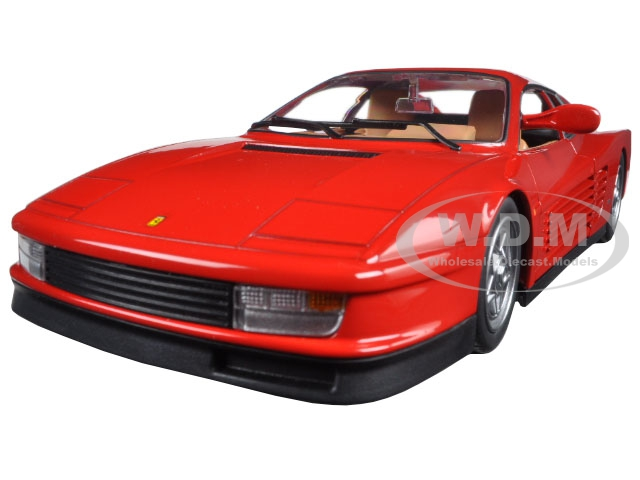 Ferrari Testarossa Red 1/24 Diecast Model Car by Bburago