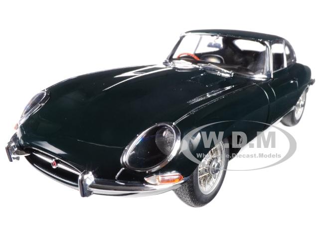 Jaguar E-Type Series 1 3.8 Coupe Green with Metal Wire-Spoke Wheels  1/18 Diecast Model Car by Autoart
