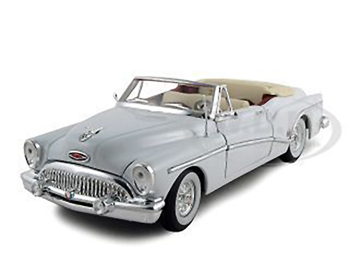 1953_Buick_Skylark_Convertible_White_132_Diecast_Model_Car_by_Signature_Models