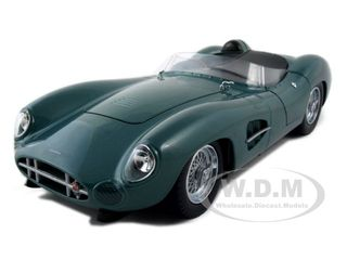 1959 Aston Martin DBR1 Green 1/18 Diecast Car Model by Shelby Collectibles