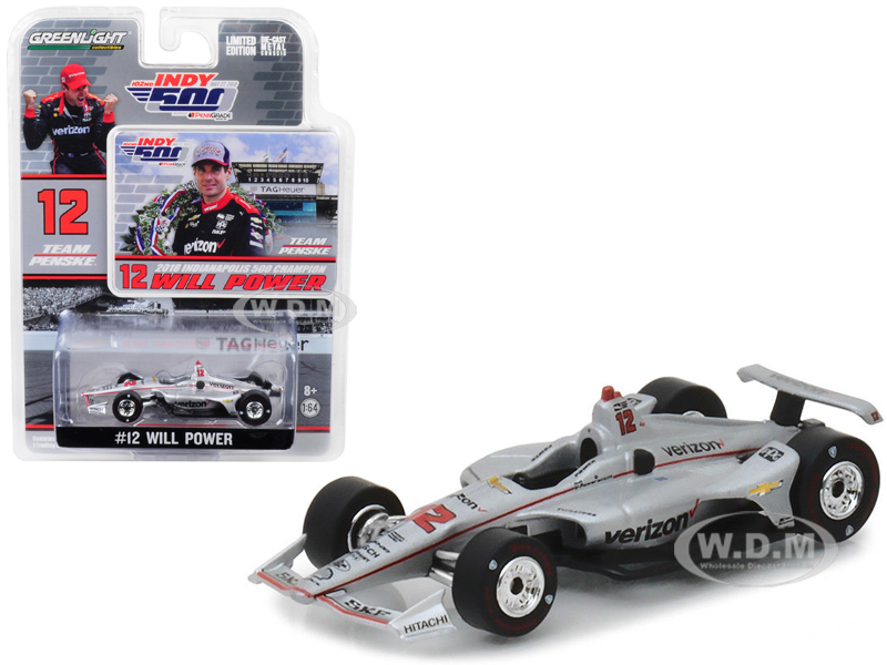 2018_IndyCar_12_Will_Power_Team_Penske_Verizon_Indianapolis_500_Champion_164_Diecast_Model_Car_by_Greenlight