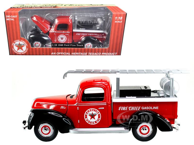 1940 Ford Fire Truck Texaco Red 1/18 Diecast Model Car By Beyond Infinity