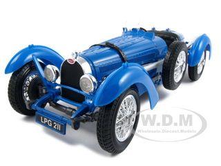 1934 Bugatti Type 59 Blue 1/18 Diecast Model Car By Bburago