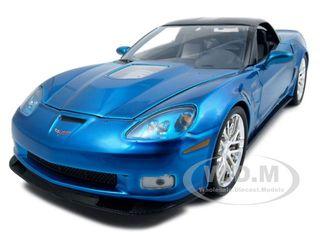 2009 Chevrolet Corvette ZR1 Jet Stream Blue 1/18 Diecast Model Car by Jada