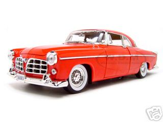 1955 Chrysler C300 Red 1/18 Diecast Model Car by Motormax