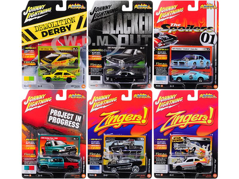 Street Freaks 2017 Release 4B Set of 6 cars 1/64 Diecast Model Cars by Johnny Lightning