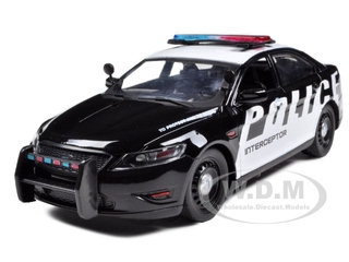 Ford Police Car Interceptor Concept Police Black & White 1/24 Diecast Model Car by Motormax