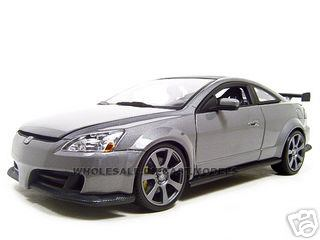 2003 Honda Accord Custom Tuner Grey 1/18 Diecast Model by Motormax