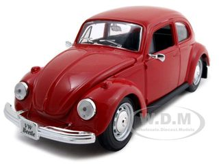 1973 Volkswagen Beetle Red 1/24  Diecast Model Car by Maisto
